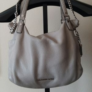 MICHAEL KORS Gray Leather Tote Handbag Satchel